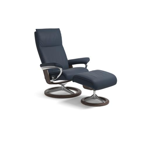 Stressless By Ekornes - Stressless Aura Large Signature Base Chair and Ottoman