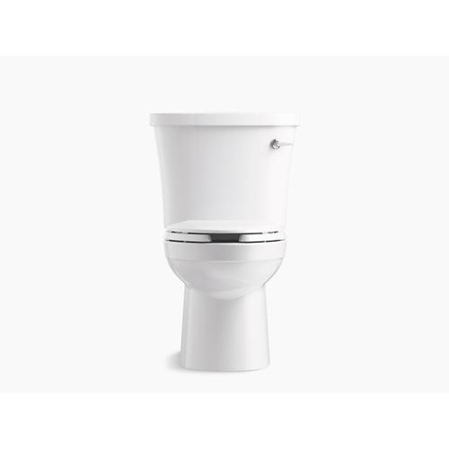 White Two-piece Elongated 1.28 Gpf Toilet With Class Five Flushing Technology, Right-hand Trip Lever and Tank Locks, Seat Not Included