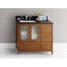 "View Product - Juno 36"" Bathroom Vanity Cabinet Base in Cinnamon - Doors on Left"