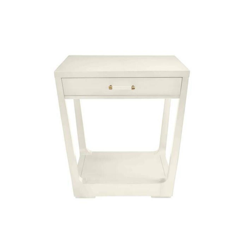 Latitude Square Lamp Table - Saltbox White