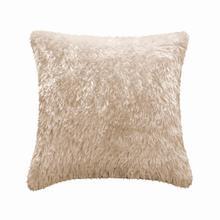 Fun Fur Long Hair Cushion - Champagne