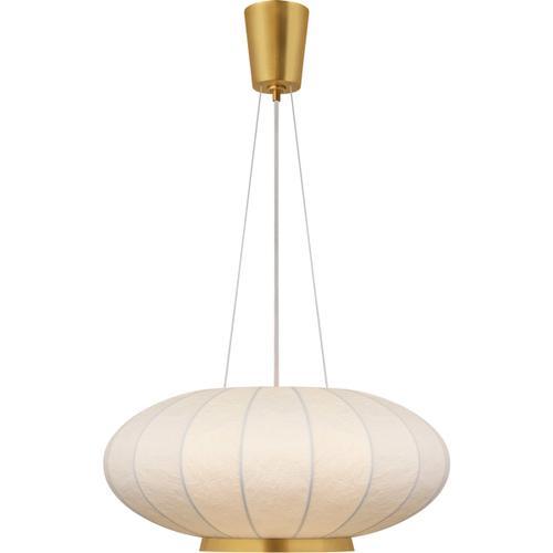 Barbara Barry Moon 1 Light 26 inch Soft Brass Hanging Shade Ceiling Light, Medium