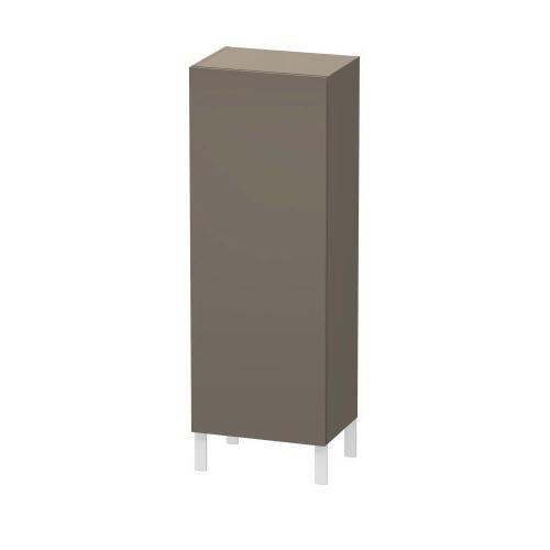 Semi-tall Cabinet, Flannel Gray Satin Matte (lacquer)