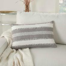 """Outdoor Pillows Vj088 Grey 14"""" X 22"""" Throw Pillow"""