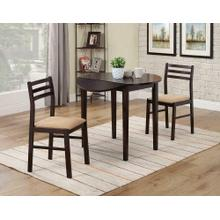 See Details - Casual Cappuccino Three-piece Dining Set