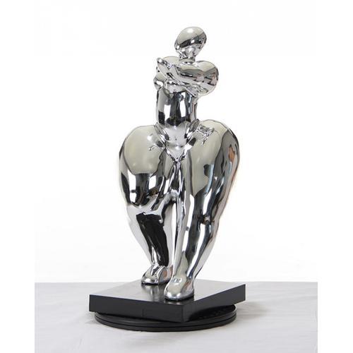 Gallery - Modrest SZ0048 - Modern Silver Voluptuous B Sculpture