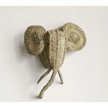 """See Details - 21""""L x 8-1/2""""W x 25""""H Hand-Woven Moroccan Elephant Head Wall Decor"""