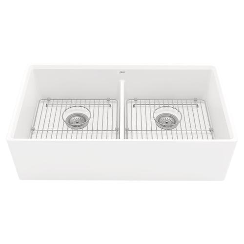 American Standard - Avery 36x20 Double Bowl Farmhouse Kitchen Sink  American Standard - Alabaster White