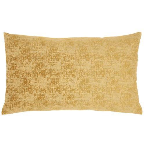 "Life Styles Et438 Mustard 14"" X 24"" Throw Pillow"
