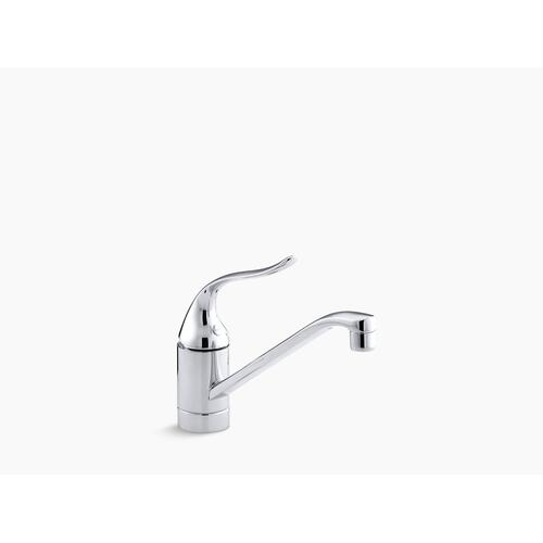 "Vibrant Brushed Nickel Single-hole Kitchen Sink Faucet With 8-1/2"" Spout and Lever Handle"