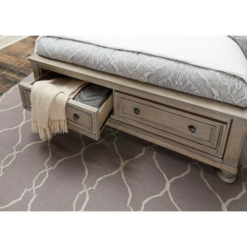 Gallery - California King Platform Bed with Footboard Storage
