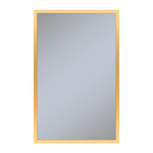 """Profiles 19-1/4"""" X 30"""" X 4"""" Framed Cabinet In Matte Gold With Electrical Outlet, Usb Charging Ports, Magnetic Storage Strip and Right Hinge"""