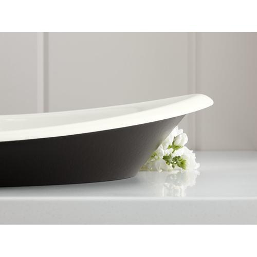 Dune Vessel Bathroom Sink With Iron Black Painted Underside