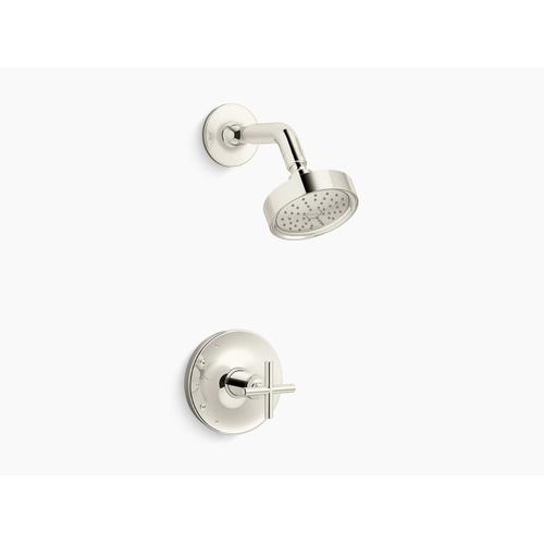Kohler - Vibrant Polished Nickel Rite-temp Shower Trim With Cross Handle and 1.75 Gpm Showerhead
