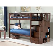 View Product - Columbia Staircase Bunk Bed Twin over Twin in Walnut