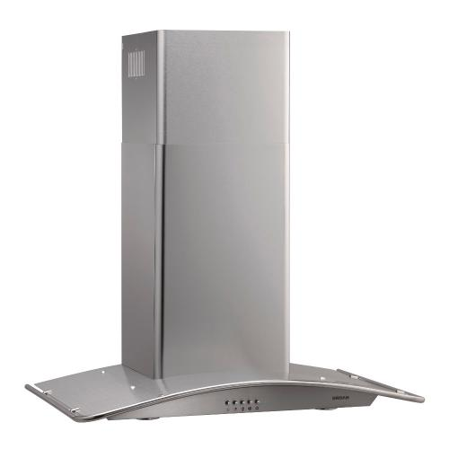 Broan® 30-Inch Convertible Arched Canopy Wall-Mount Chimney Range Hood, 450 CFM, Stainless Steel