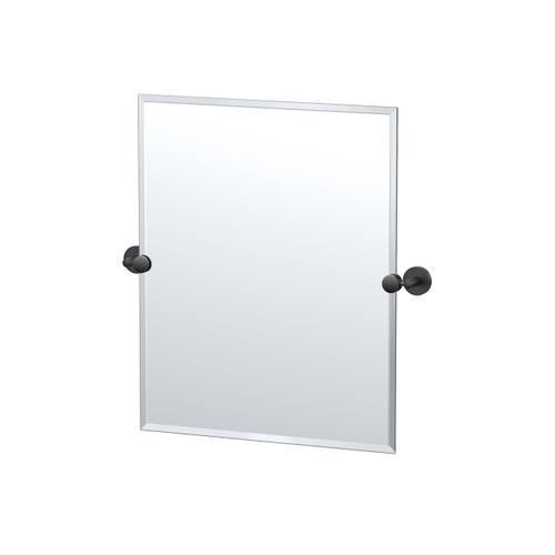 Sky Rectangle Mirror in Matte Black