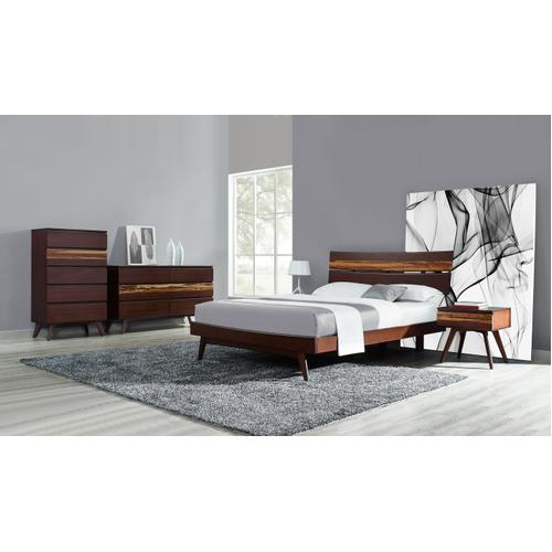 Azara Queen Platform Bed, Sable