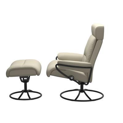 See Details - Stressless® Tokyo Original Adjustable headrest Chair with Ottoman