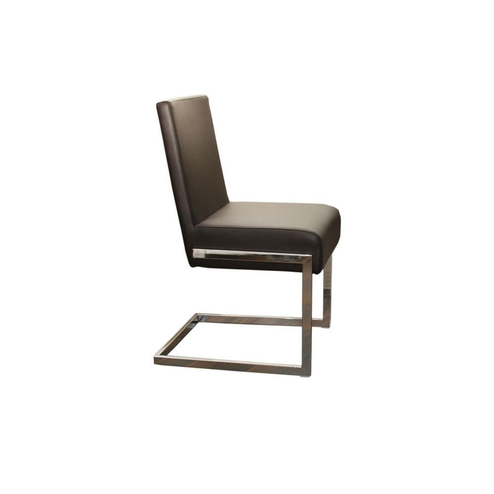 The Fontana Brown Eco-leather Dining Chairs