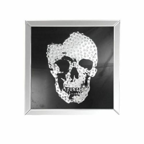 ACME Nevina Wall Art - 97315 - Mirrored & Crystal Skull