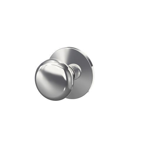 Custom Plymouth Knob with Kinsler Trim Hall-Closet and Bed-Bath Lock - Bright Chrome