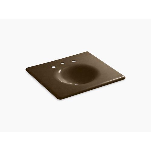 """Black 'n Tan 25"""" Vanity-top Bathroom Sink With 8"""" Widespread Faucet Holes"""