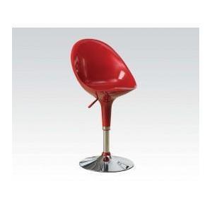 Acme Furniture Inc - Red/chrome High Back ADJ.STOOL