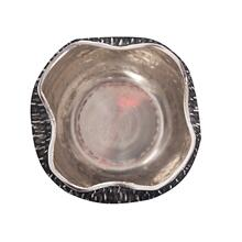View Product - Textured Bright Silver Aluminum Pinch pot Votive Holder, Small