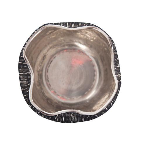 Howard Elliott - Textured Bright Silver Aluminum Pinch pot Votive Holder, Small
