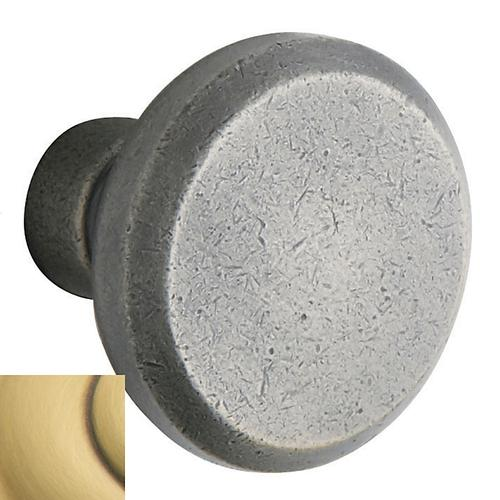 Satin Brass and Brown 5023 Estate Knob