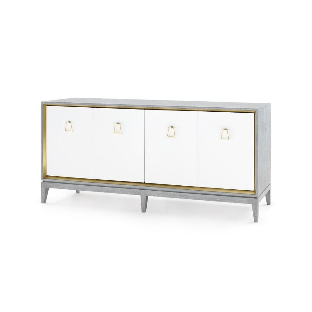 Cameron 4-Door Cabinet, Gray