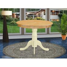 """Antique Table 36"""" Round in Oak and Buttermilk Finish"""