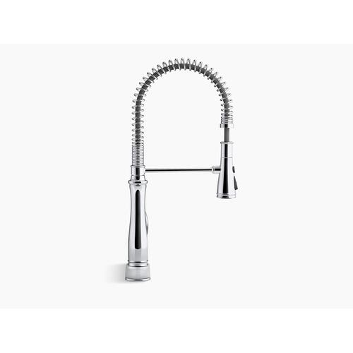Vibrant Stainless Single-handle Semi-professional Kitchen Sink Faucet