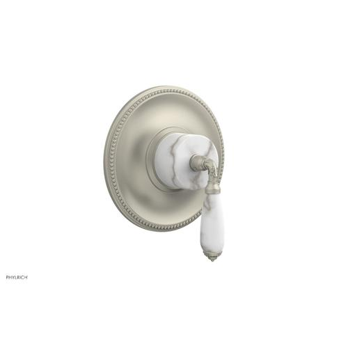 Phylrich - VALENCIA - Thermostatic Shower Trim, White Marble Lever Handle TH338B - Burnished Nickel