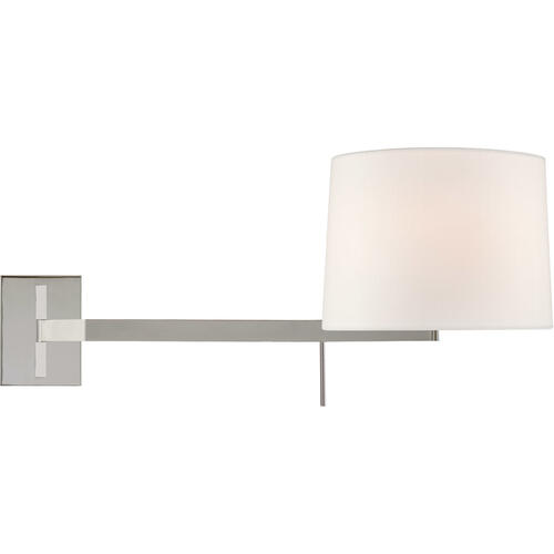 Barbara Barry Sweep 1 Light 12 inch Polished Nickel Articulating Wall Sconce Wall Light, Medium Left