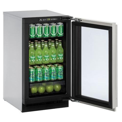 "U-Line - 2218rgl 18"" Refrigerator With Stainless Frame Finish (115 V/60 Hz Volts /60 Hz Hz)"