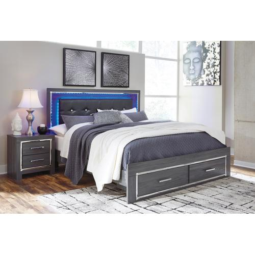 Lodanna - Gray 3 Piece Bed Set (King)