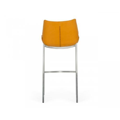 VIG Furniture - Modrest Dave - Modern Orange Leatherette Bar Stool (Set of 2)