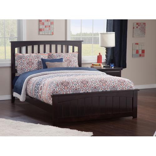Mission Queen Bed with Matching Foot Board in Espresso