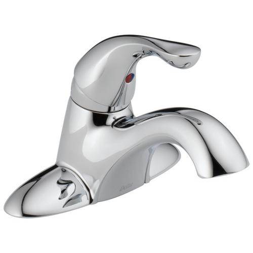 Chrome Single Handle Centerset Bathroom Faucet - Less Pop-Up