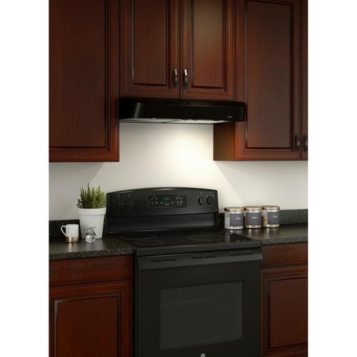 Broan® Antero 30-Inch Under-Cabinet Range Hood, 375 MAX Blower CFM, Black