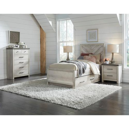Twin Panel Bed Footboard and Slats
