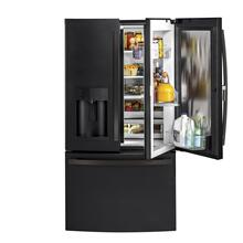 GE 27.7CF Black Slate French-Door Refrigerator with Door In Door
