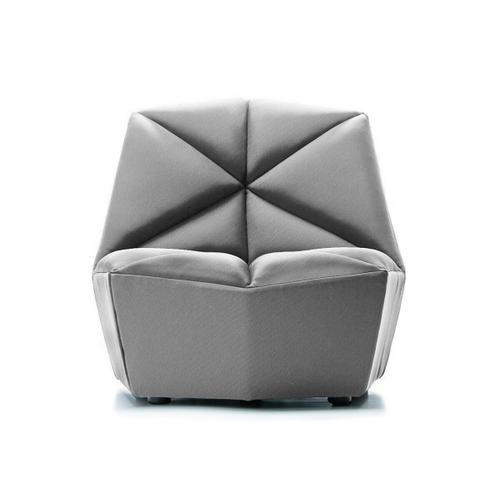 Gallery - Divani Casa Tomlin - Contemporary Grey Woven Fabric Accent Chair