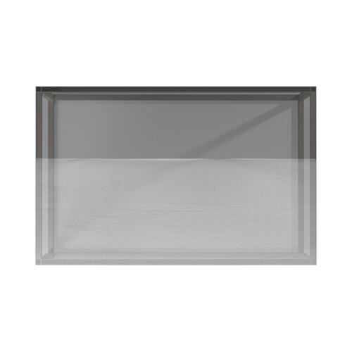 Howard Elliott - Rectangular Stainless Steel Coffee Table - Clear