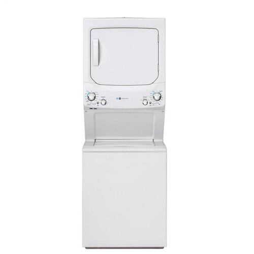 GE Unitized Spacemaker® ENERGY STAR® 3.9 cu. ft. Capacity Washer with Stainless Steel Basket and 5.9 cu. ft. Capacity Gas Dryer