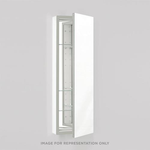 """Pl Series 19-1/4"""" X 39-3/8"""" X 4"""" Flat Top Cabinet With Polished Edge, Non-handed (reversible), Black Interior and Non-electric"""