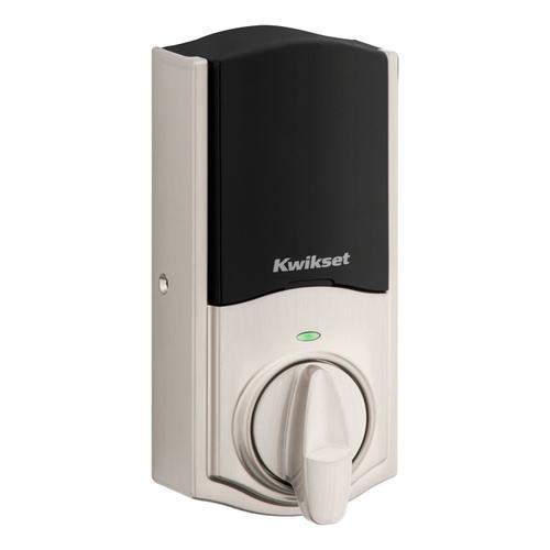 Kwikset - Halo Touch Traditional Fingerprint Wi-Fi Enabled Smart Lock - Satin Nickel