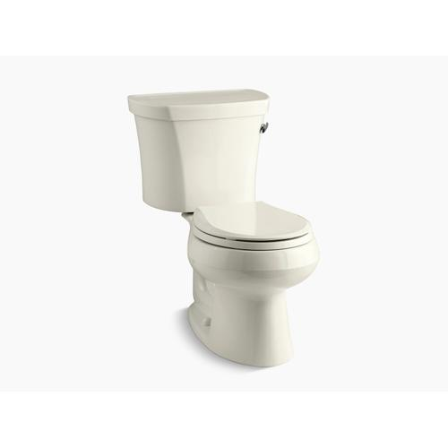 """Kohler - Biscuit Two-piece Round-front 1.28 Gpf Toilet With Right-hand Trip Lever, Tank Cover Locks, Insulated Tank and 14"""" Rough-in"""